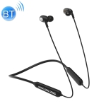 JOYROOM JR-D5 Bluetooth 5.0 Double-moving Collar Hanging Neck sports Bluetooth Headset Earphone (Black)