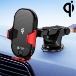 JOYROOM JR-ZS187 Speedy Series 2 In 1 Car Air Vent Instrument Console Intelligent Wireless Charging Bracket (Red)