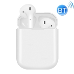 DS-i13 Wireless Bluetooth V5.0 Sport Binaural Headphone, Support Wireless Charging&Tapping function&Boot-up Automatic Matching, Compatible with iOS & Android (White)