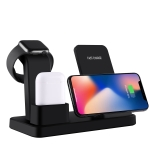 Q12 3 in 1 Quick Wireless Charger for iPhone, Apple Watch, AirPods and other Andriod Smart Phones (Black)
