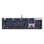 MOTOSPEED CK104 Wired Mechanical Keyboard 104 Keys RGB Blue Switch LED Backlit Anti-Ghosting Gaming Keyboard