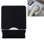 MONTIAN MF-03 Square Slow Rebound Memory Cotton Bracer Hard Bottom Mouse Pad(Black)