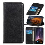 Magnetic Retro Crazy Horse Texture Horizontal Flip Leather Case for LG Q60, with Holder & Card Slots & Wallet (Black)