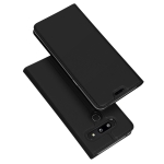 DUX DUCIS Skin Pro Series Horizontal Flip PU + TPU Leather Case for LG G8 ThinQ / G8s ThinQ, with Holder & Card Slots (Black)