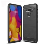 Brushed Texture Carbon Fiber TPU Case for LG G8 ThinQ / G8s ThinQ (Black)