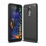 Brushed Texture Carbon Fiber TPU Case for LG K40 (Black)