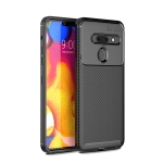 Carbon Fiber Texture Shockproof TPU Case for LG G8S ThinQ (Black)