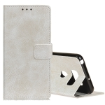 Retro Crazy Horse Texture Horizontal Flip Leather Case for LG K50, with Holder & Card Slots & Photo Frame (White)