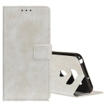 Retro Crazy Horse Texture Horizontal Flip Leather Case for LG Q60, with Holder & Card Slots & Photo Frame (White)