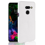 Shockproof Crocodile Texture PC + PU Case for LG G8 ThinQ (White)