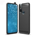 Brushed Texture Carbon Fiber TPU Case for Vivo V15 (Black)