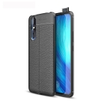 Litchi Texture TPU Shockproof Case for Vivo X27 (Black)