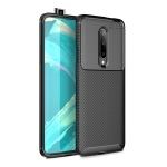 Carbon Fiber Texture Shockproof TPU Case for Oneplus 7 (Black)