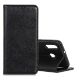 Retro Crazy Horse Texture Horizontal Flip Leather Case for CUBOT X19, with Holder & Card Slots & Photo Frame (Black)