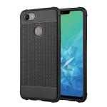Cube Texture Shockproof TPU Case for OPPO F9 (Black)