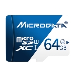 MICRODATA 64GB U1 Blue and White TF(Micro SD) Memory Card