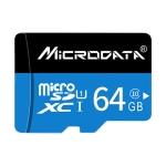 MICRODATA 64GB U1 Blue and Black TF(Micro SD) Memory Card