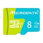 MICRODATA 8GB U1 Blue and Green TF(Micro SD) Memory Card