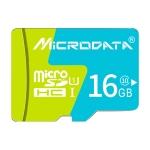 MICRODATA 16GB U1 Blue and Green TF(Micro SD) Memory Card