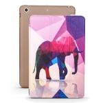 Elephant Pattern Horizontal Flip PU Leather Case for iPad mini 3 / 2 / 1, with Three-folding Holder & Honeycomb TPU Cover