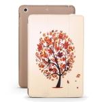 Maple Pattern Horizontal Flip PU Leather Case for iPad mini 3 / 2 / 1, with Three-folding Holder & Honeycomb TPU Cover