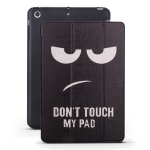 Angry Expression Pattern Horizontal Flip PU Leather Case for iPad mini 3 / 2 / 1, with Three-folding Holder & Honeycomb TPU Cover