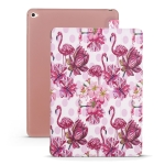 Flamingo Pattern Horizontal Flip PU Leather Case for iPad mini 4, with Three-folding Holder & Honeycomb TPU Cover