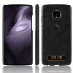 Shockproof Litchi Texture PC + PU Case for Motorola Moto Z4 Play (Black)