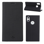 ViLi DMX Multifunctional Horizontal Flip Leather Case for Motorola One (P30 Play), with Card Slot & Holder (Black)