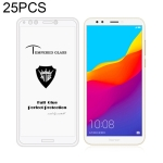 25 PCS MIETUBL Full Screen Full Glue Anti-fingerprint Tempered Glass Film for Huawei Honor 7C (White)
