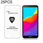 25 PCS MIETUBL Full Screen Full Glue Anti-fingerprint Tempered Glass Film for Huawei Honor 7S (White)