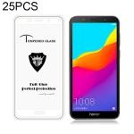25 PCS MIETUBL Full Screen Full Glue Anti-fingerprint Tempered Glass Film for Huawei Honor 7S (White)