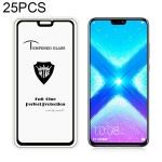 25 PCS MIETUBL Full Screen Full Glue Anti-fingerprint Tempered Glass Film for Huawei Honor 8X (Black)