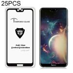 25 PCS MIETUBL Full Screen Full Glue Anti-fingerprint Tempered Glass Film for Huawei Honor 9i (Black)