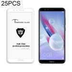 25 PCS MIETUBL Full Screen Full Glue Anti-fingerprint Tempered Glass Film for Huawei Honor 9 Lite (White)