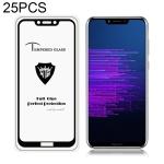 25 PCS MIETUBL Full Screen Full Glue Anti-fingerprint Tempered Glass Film for Huawei Honor Honor Play (Black)
