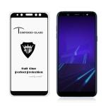 MIETUBL Full Screen Full Glue Anti-fingerprint Tempered Glass Film for Galaxy A6 (2018) (Black)
