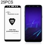 25 PCS MIETUBL Full Screen Full Glue Anti-fingerprint Tempered Glass Film for Galaxy A6 (2018) (Black)