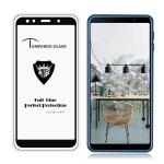 MIETUBL Full Screen Full Glue Anti-fingerprint Tempered Glass Film for Galaxy Galaxy A7 (2018) (Black)