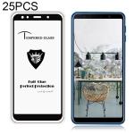 25 PCS MIETUBL Full Screen Full Glue Anti-fingerprint Tempered Glass Film for Galaxy A7 (2018) (Black)