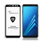 MIETUBL Full Screen Full Glue Anti-fingerprint Tempered Glass Film for Galaxy Galaxy A8 (2018) (Black)