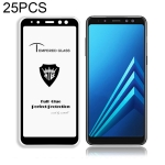 25 PCS MIETUBL Full Screen Full Glue Anti-fingerprint Tempered Glass Film for Galaxy A8 (2018) (Black)