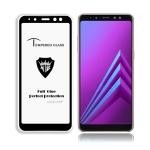 MIETUBL Full Screen Full Glue Anti-fingerprint Tempered Glass Film for Galaxy A8+ (2018) (Black)