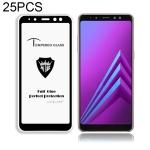 25 PCS MIETUBL Full Screen Full Glue Anti-fingerprint Tempered Glass Film for Galaxy A8+ (2018) (Black)