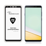 MIETUBL Full Screen Full Glue Anti-fingerprint Tempered Glass Film for Galaxy A9 (2018) (Black)
