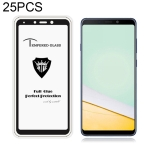 25 PCS MIETUBL Full Screen Full Glue Anti-fingerprint Tempered Glass Film for Galaxy A9 (2018) (Black)