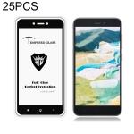 25 PCS MIETUBL Full Screen Full Glue Anti-fingerprint Tempered Glass Film for Xiaomi Redmi Go (Black)