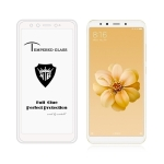 MIETUBL Full Screen Full Glue Anti-fingerprint Tempered Glass Film for Xiaomi Mi 6X / A2 (White)