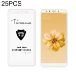 25 PCS MIETUBL Full Screen Full Glue Anti-fingerprint Tempered Glass Film for Xiaomi Mi 6X / A2 (White)
