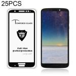 MIETUBL 25 PCS Full Screen Full Glue Anti-fingerprint Tempered Glass Film for Motorola Moto G6 Plus (Black)